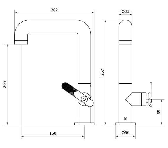 Technical drawing QS-V102473 / UB110DNC