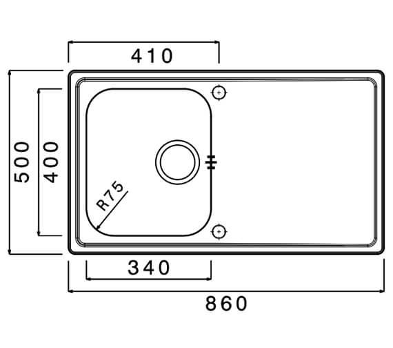 Technical drawing QS-V88842 / MA100