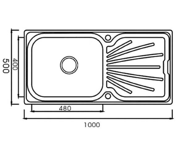 Technical drawing QS-V88840 / DB10B