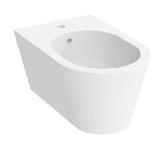 Saneux Icon 1 Tap Hole Round Wall Hung Bidet