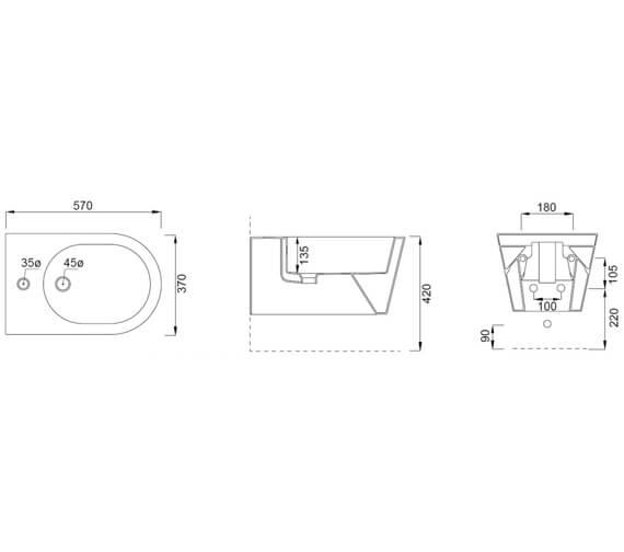Technical drawing QS-V102471 / 83118