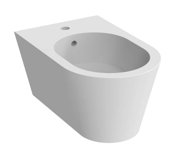 Additional image of Saneux Icon 1 Tap Hole Round Wall Hung Bidet