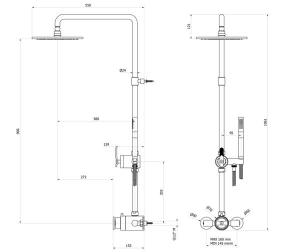 Technical drawing QS-V102472 / RM650WC