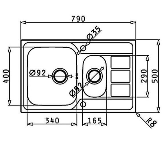 Technical drawing QS-V88845 / 101200301