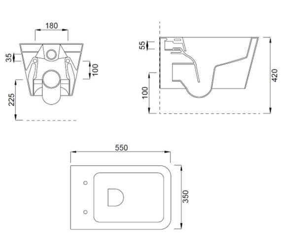 Technical drawing QS-V102484 / 83121