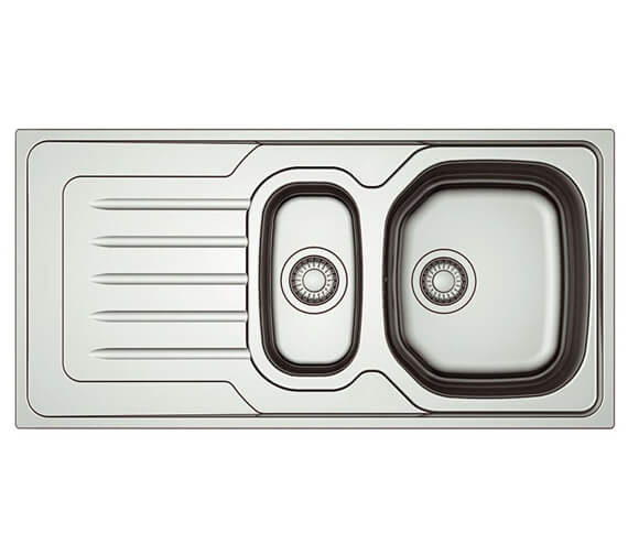 Clearwater Bolero 1000 x 500mm 1.5 Bowl Kitchen Sink And Drainer