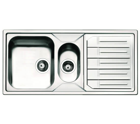Clearwater Maggio 1000 x 500mm 1.5 Bowl Kitchen Sink And Drainer