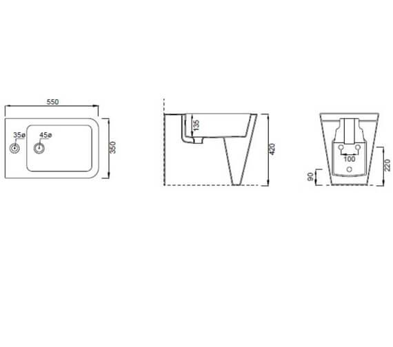 Technical drawing QS-V102483 / 83120