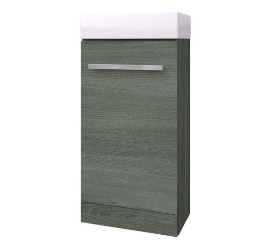 Kartell K-Vit Purity Floor Standing 400mm Wide Cloakroom Vanity Unit With Basin