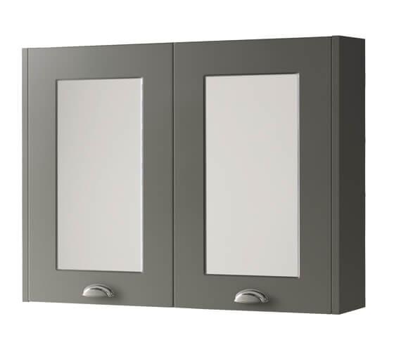 Kartell K-Vit Astley 790 x 595mm Double Door Mirror Cabinet