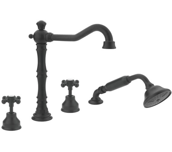 Additional image of Tre Mercati Allora 4 Tap Hole Bath Shower Mixer Tap With Kit