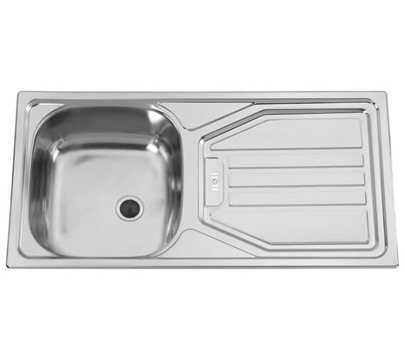 Clearwater Spacesaver 860 x 435mm Single Bowl Kitchen Sink And Drainer