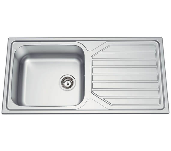 Clearwater Okio 1000 x 500mm Large Bowl Kitchen Sink And Drainer
