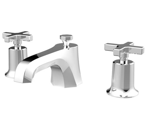 Saneux Cromwell 3 Tap Hole Basin Mixer Tap With Waste