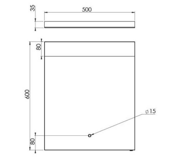 Technical drawing QS-V102259 / MA050M