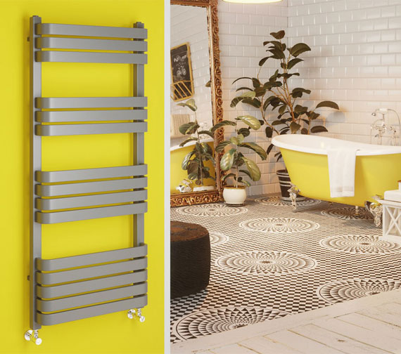 DQ Heating Tesoro 500mm Wide Mild Steel Towel Rail