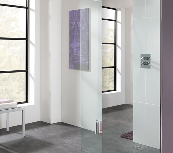 Lakes Cannes Mirror 800mm Walk-In Shower Panel