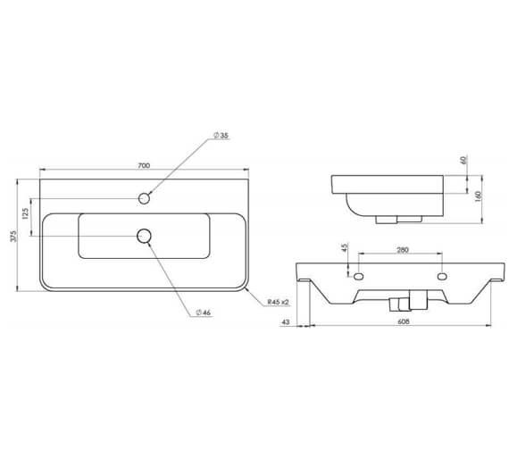 Technical drawing QS-V95923 / HY055W1.MW