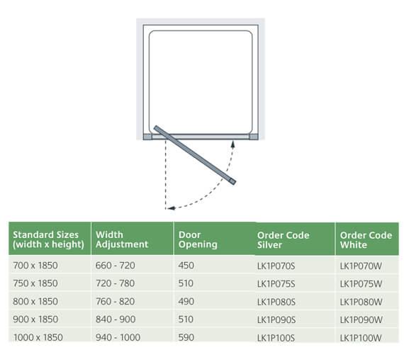 Technical drawing QS-V27001 / LK1P070S