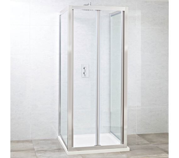 Additional image of Phoenix Spirit 2000mm High Easy Clean Glass Bi-Fold Shower Door
