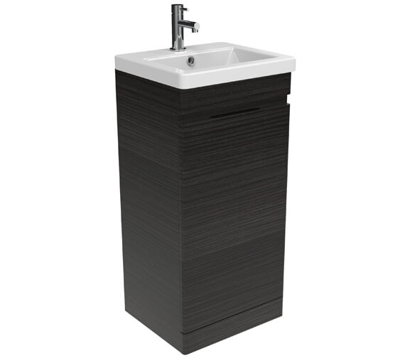 Additional image of Sanuex Air One Door Floor Standing 400mm Unit With Basin And Waste Trap