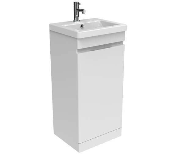 Sanuex Air One Door Floor Standing 400mm Unit With Basin And Waste Trap