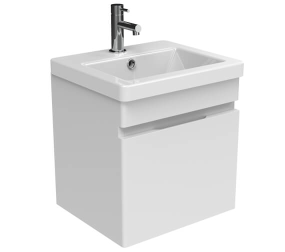 Saneux Air One Door Wall Mounted 400mm Unit With Basin And Waste Trap
