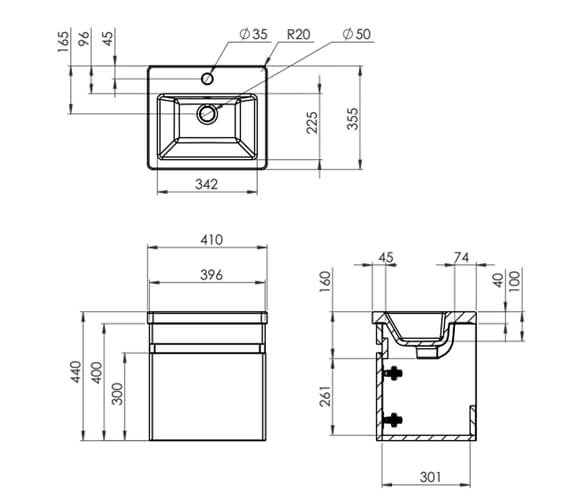 Technical drawing QS-V88794 / AIRW40.W