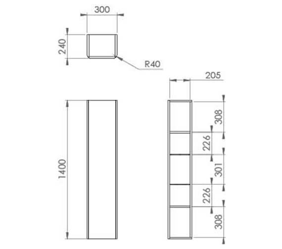 Technical drawing QS-V95925 / HY030S.MW