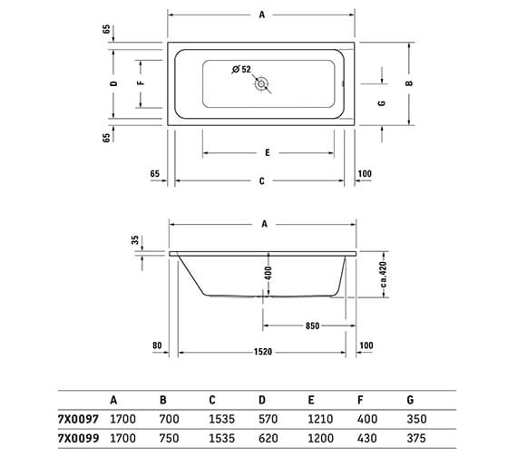 Technical drawing QS-V43576 / 700104000000000