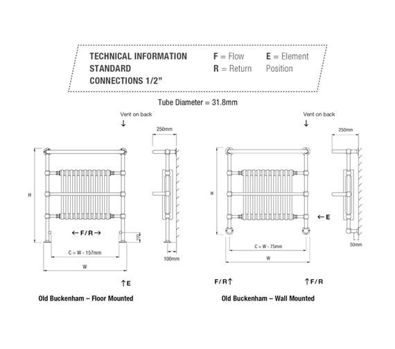 Technical drawing QS-V13657 / OLD BUCKENHAM-1W-CP