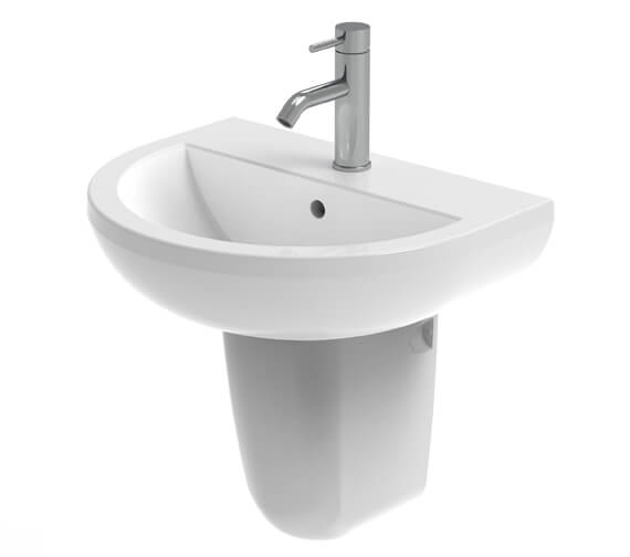 Saneux Air 550mm Wide Washbasin With Semi Pedestal