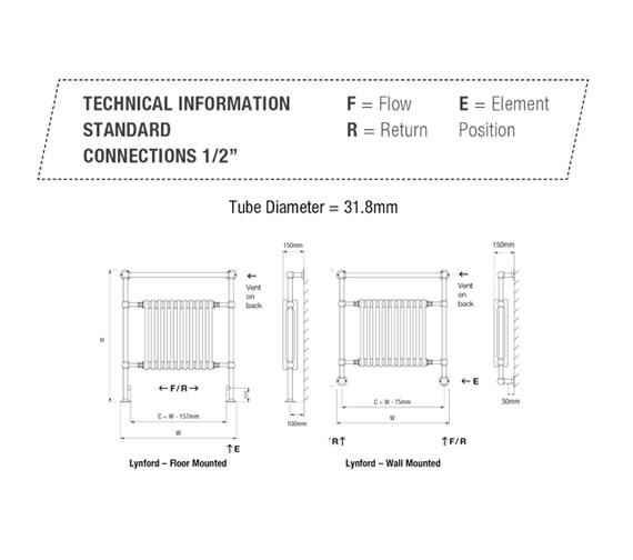 Technical drawing QS-V50145 / LYNFORD-1-CP