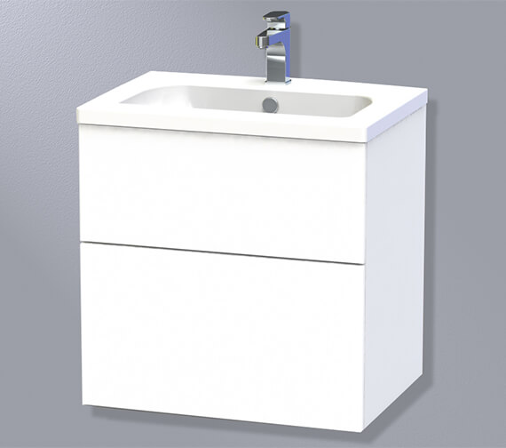 Miller New York Two Drawer Wall Hung Vanity Unit
