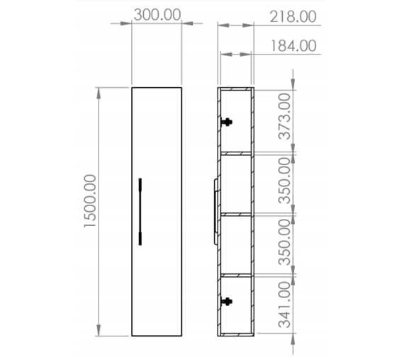 Technical drawing QS-V29573 / AU030S.GW