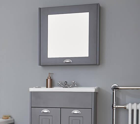 Kartell K-Vit Astley Single Door 590 x 595mm Mirror Cabinet