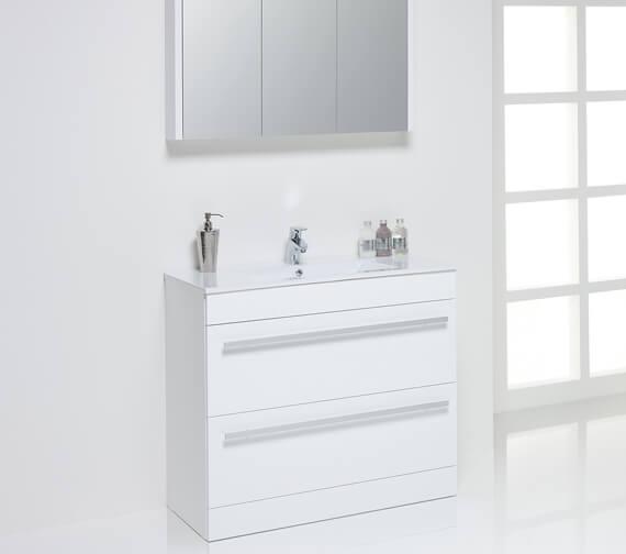 Alternate image of Kartell K-Vit Purity Wall Mounted Double Drawer Vanity Unit 600mm