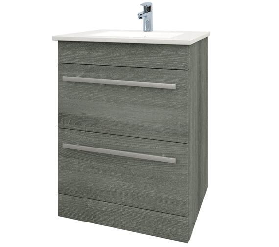 Kartell K-Vit Purity 2-Drawer Floor Standing Vanity Unit 600mm