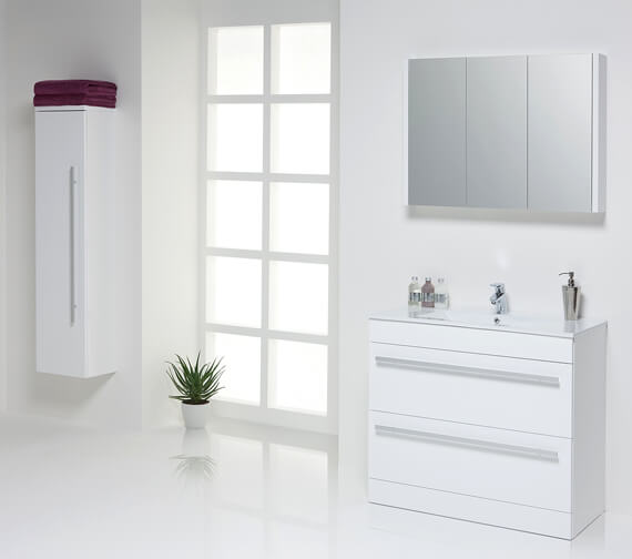 Alternate image of Kartell K-Vit Purity 2-Drawer Floor Standing Vanity Unit 600mm