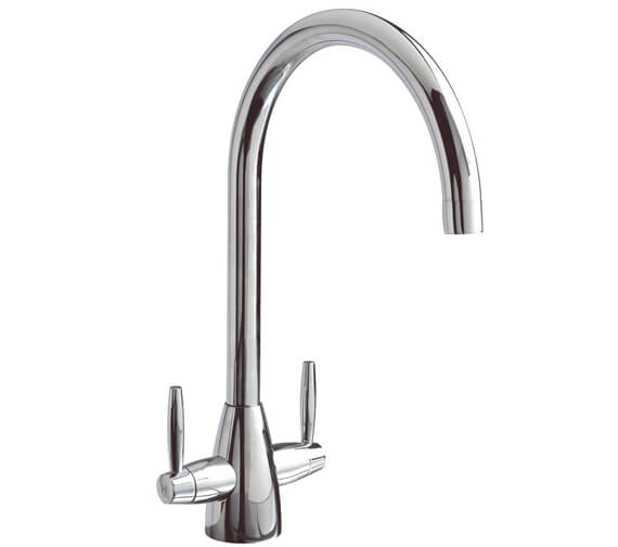 Clearwater Tutti C Twin Lever Monobloc Kitchen Sink Mixer Tap