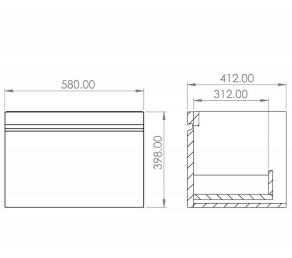 Technical drawing QS-V88166 / MA050W.GW