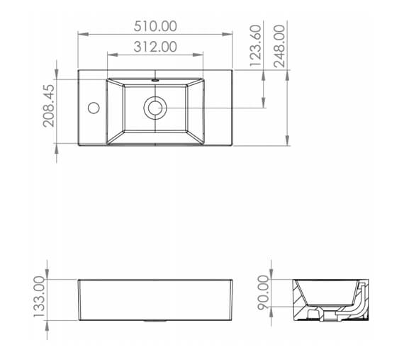 Technical drawing QS-V88162 / MA051W.GW