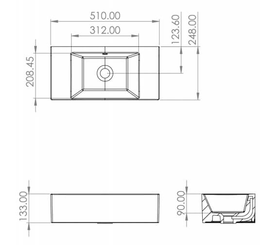Technical drawing QS-V88162 / MA051W.GW