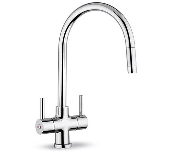 Clearwater Emporia C Monobloc Kitchen Sink Mixer Tap With Pull-Out Aerator