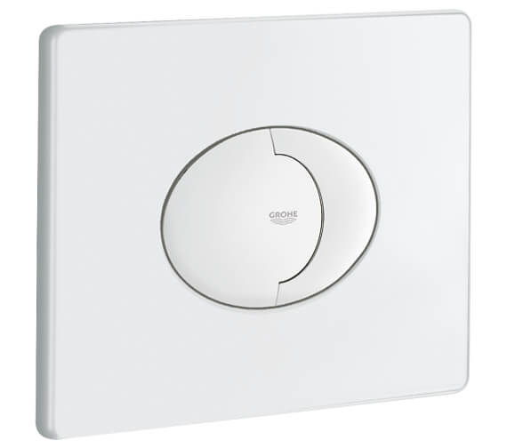 Grohe Skate Air Dual Horizontal WC Flush Wall Plate Alphine White
