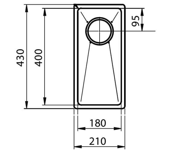 Technical drawing QS-V88869 / STE18