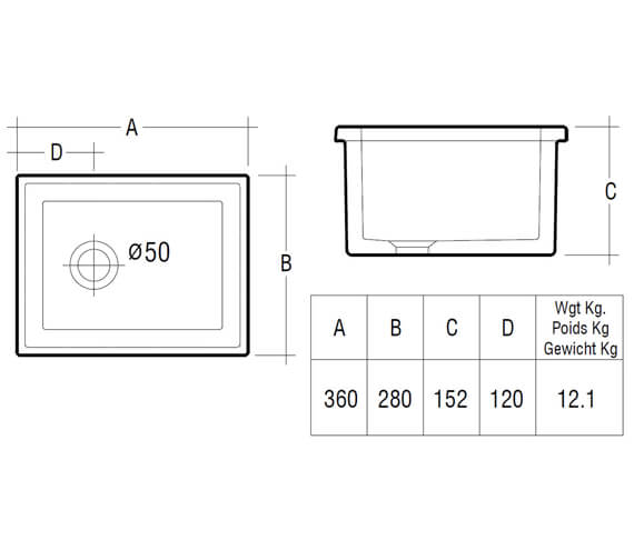 Technical drawing QS-V10070 / LABSINK1