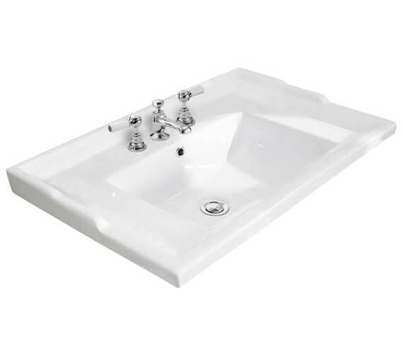 Additional image of Bayswater Traditional Washbasin With Overflow