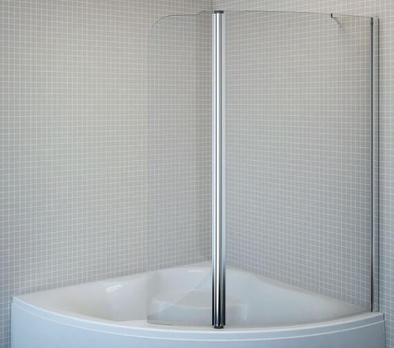 Aquaestil Gemma 1600mm High Bath Shower Screen
