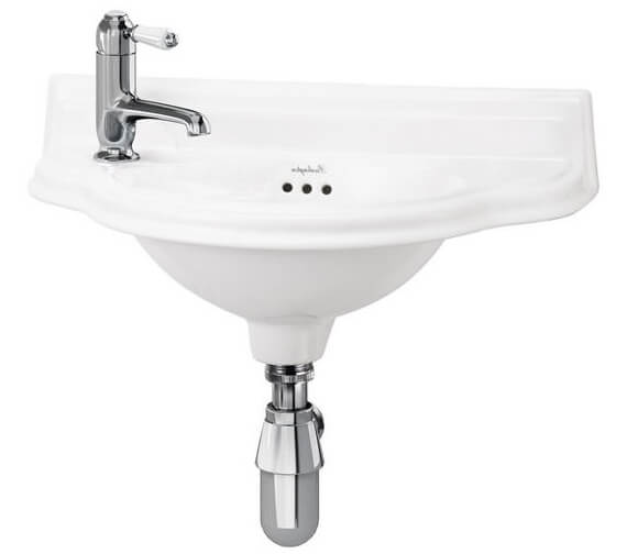 Additional image of Burlington Wall Mounted Curved Cloakroom Basin - P13